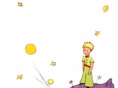 Der kleine Prinz auf seinem Planeten
