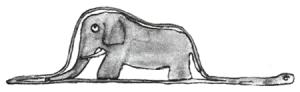 Der kleine Prinz – Die offene Riesenschlange mit einem Elefant