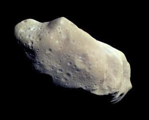 Der Asteroid 243 trägt den Namen Ida, aufgenommen von der NASA