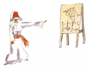 Der kleine Prinz – Der türkische Astronom in Tracht beim Vortrag