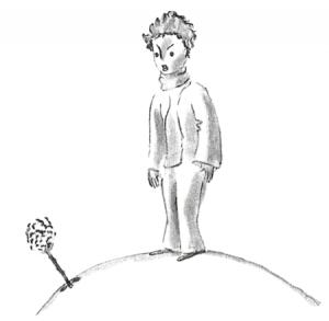 Der kleine Prinz spricht mit seiner Rose