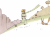 Der kleine Prinz schließt Freundschaft mit dem Fuchs und der Fuchs macht ihm die Quintessenz seines Lebens zum Geschenk.